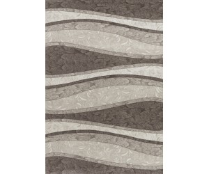 Tapis design moderne coloris brun CHIC