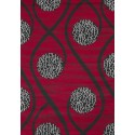 Tapis design moderne coloris rouge CHIC