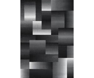 Tapis design moderne coloris noir/gris CHIC