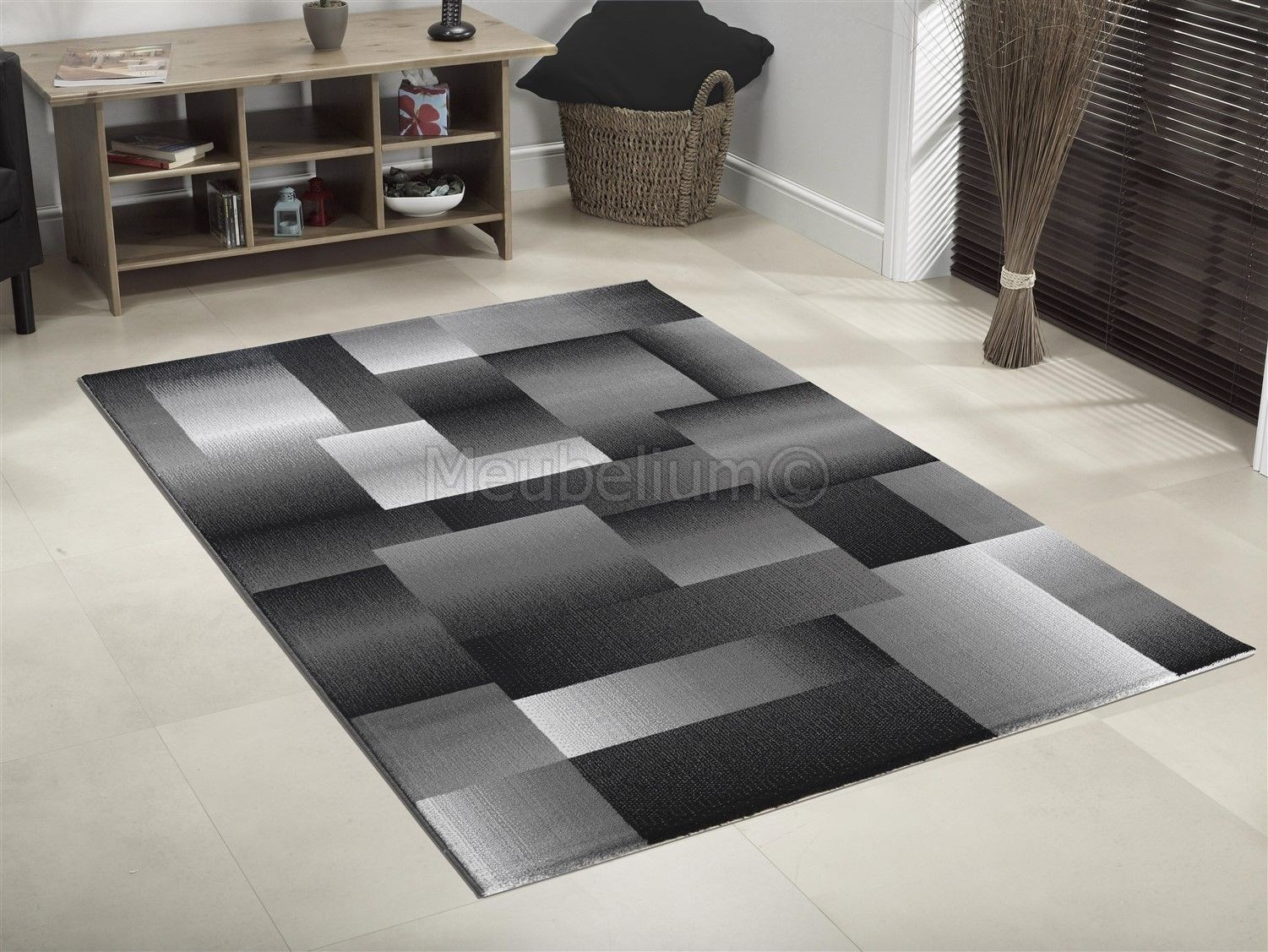 Tapis Design Moderne Coloris Lila Chic