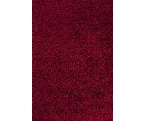 Tapis Shaggy coloris rouge ETHAN