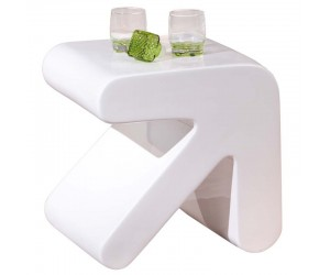 Table d'appoint design blanche