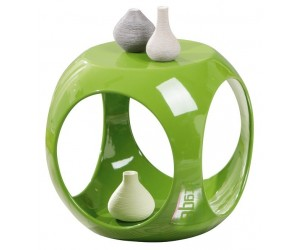 Table d'appoint en forme cube coloris vert design