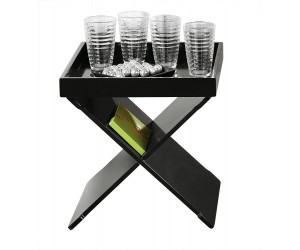 Table d'appoint fonctionnel coloris noir design