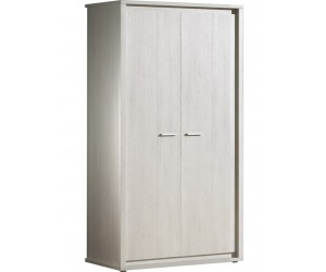 Armoire 2 portes contemporaine coloris gris NOE