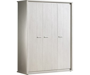 Armoire 3 portes contemporaine coloris gris NOE