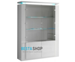 Vitrine Blanc laquée ALVERA