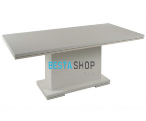 Table de Séjour Blanc rectangulaire design ALVERA