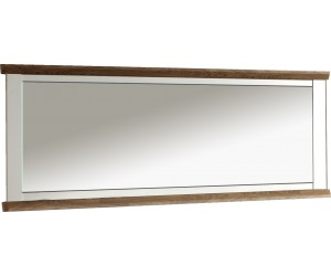Miroir rectangulaire contemporaine 206 cm  coloris havana/blanc ZOLA