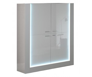Vitrine design laquée blanche aved led 100% italienne GALENA