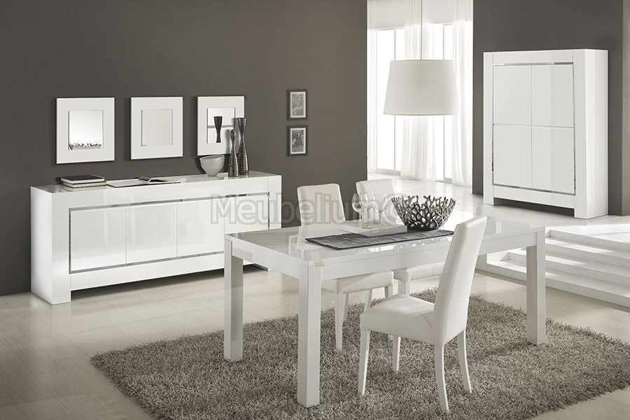Salle A Manger Design Laquee Blanche High Gloss 100 Fabrication