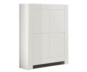 Bar armoire design laquée blanche high gloss 100% fabrication italienne ultra brillant GWENDALINE-1