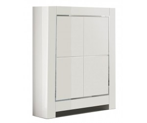 Bar armoire design laquée blanche high gloss 100% fabrication italienne ultra brillant GWENDALINE-3