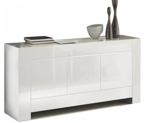 Bahut design laquée blanche high gloss 100% fabrication italienne ultra brillant GWENDALINE-1