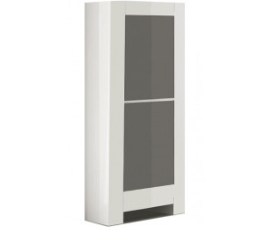 Colonne armoire design laquée blanche et gris high gloss 100% fabrication italienne ultra brillant GWENDALINE-2