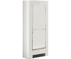 Colonne armoire design laquée blanche high gloss 100% fabrication italienne ultra brillant GWENDALINE-3