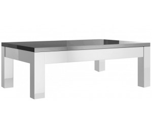 Table basse rectangulaire design laquée gris et blanche high gloss 100% fabrication italienne ultra brillant GWENDALINE-2
