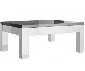 Table basse carrée 100 cm design laquée gris et blanche high gloss 100% fabrication italienne ultra brillant GWENDALINE-2