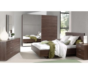 Chambre adulte contemporaine coloris noyer MANOLO