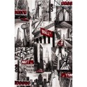 "Tapis heatset design ""New York"" coloris gris CITY"